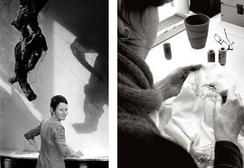 brige Van Egroo dans son atelier